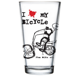 FBM I Love My Bicycle Pint Glass