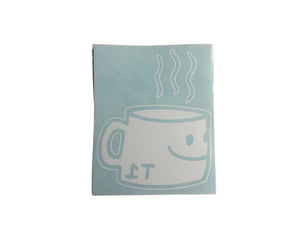 T1 Coffee Cup Window Sticker