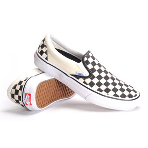 Vans slip on pro chequer board
