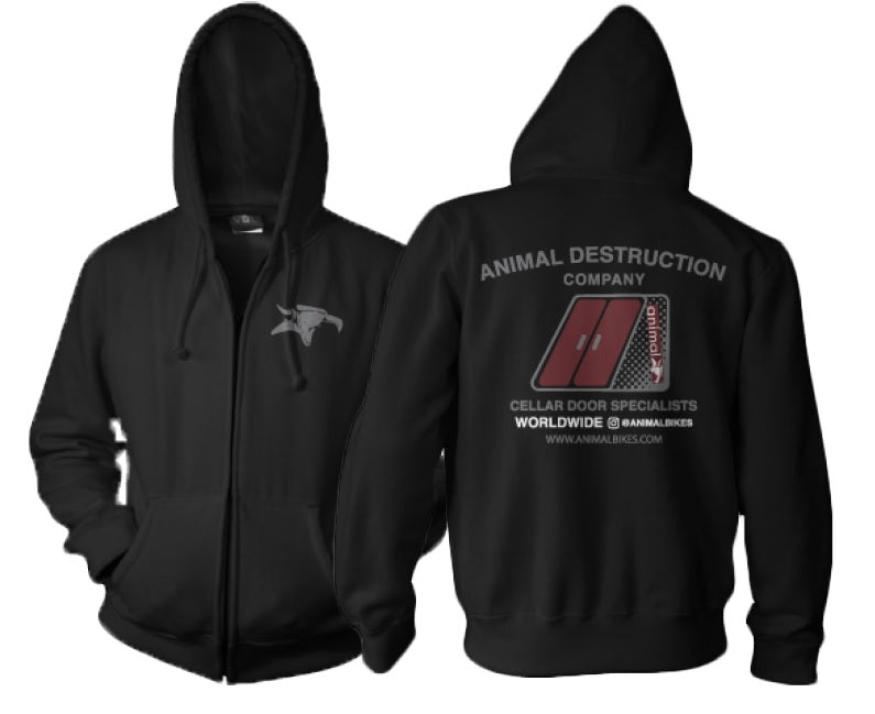 Animal Cellar Door Zip Up Sweat
