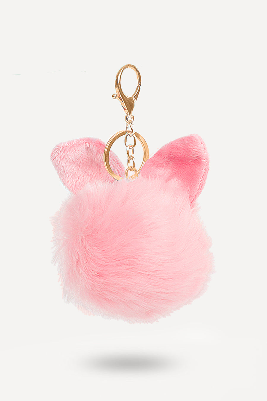 Pink Bunny-Ear Fur Ball - nobby