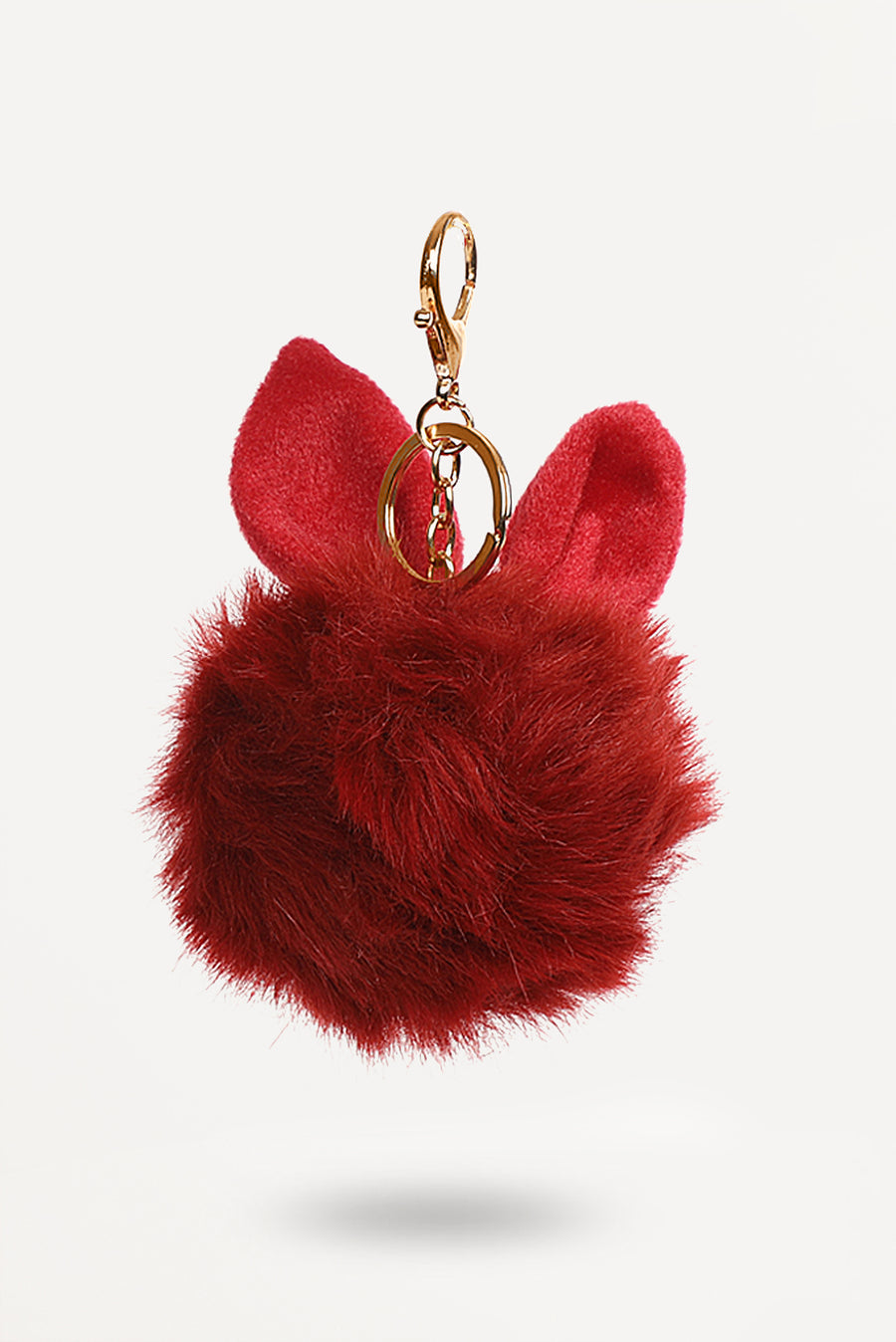 Red Bunny-Ear Fur Ball - nobby