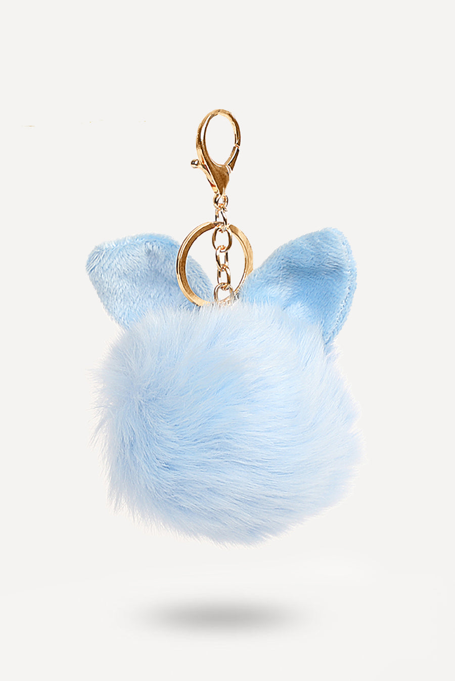 Blue Bunny-Ear Fur Ball - nobby