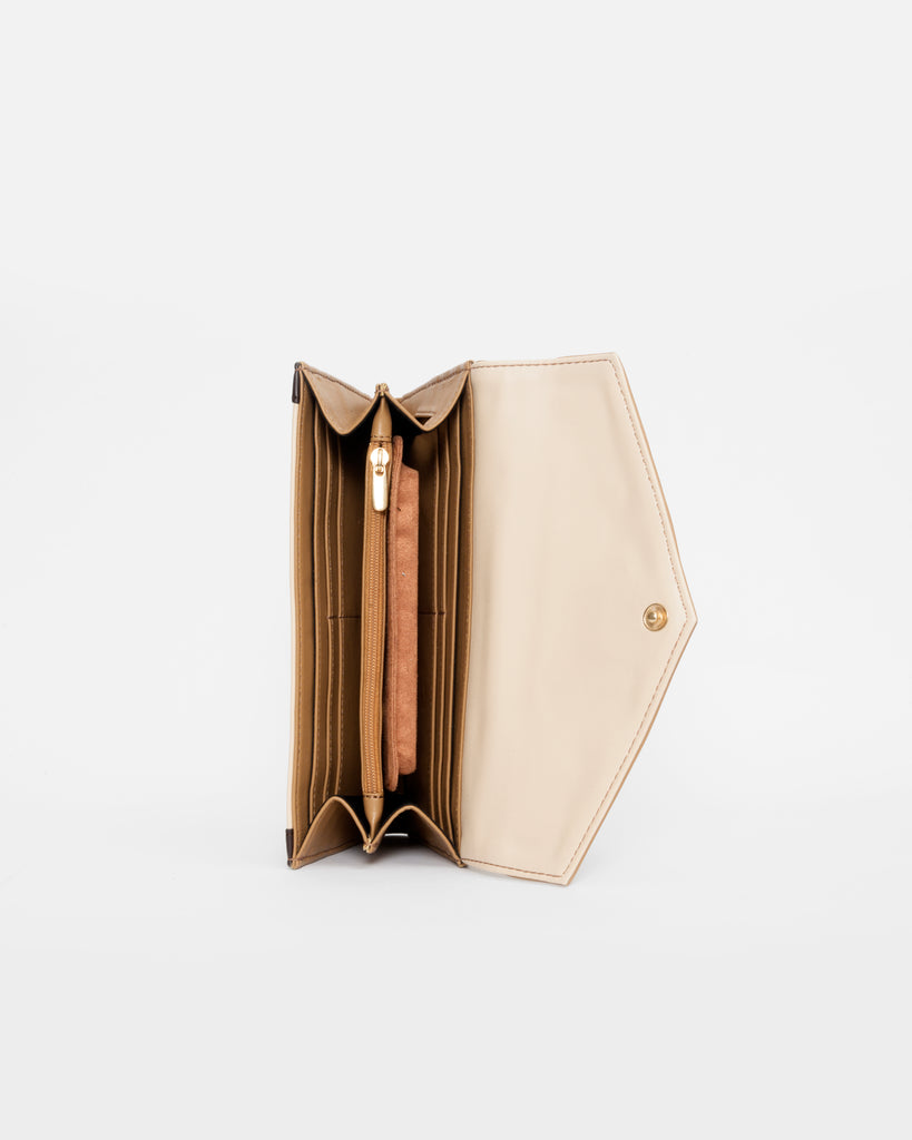 Brown Wallet with Flap - nobby