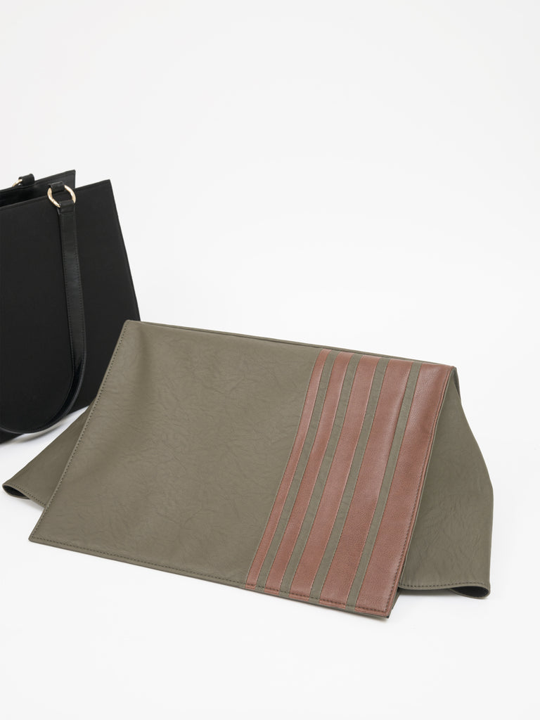 Large Striped Olive Bag (Base+Skin) - nobby