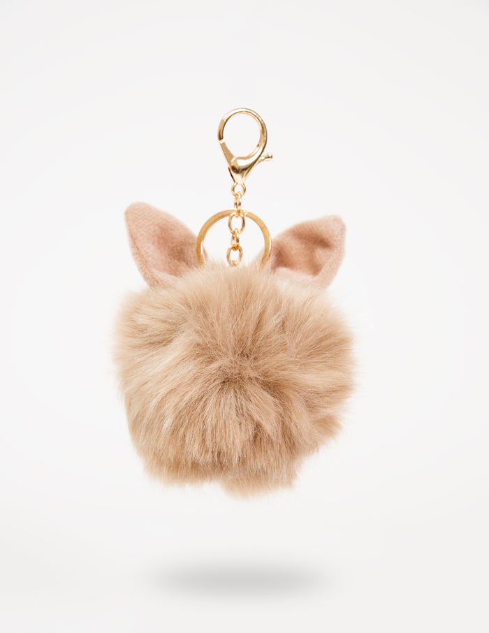 Beige Bunny-Ear Fur Ball - nobby