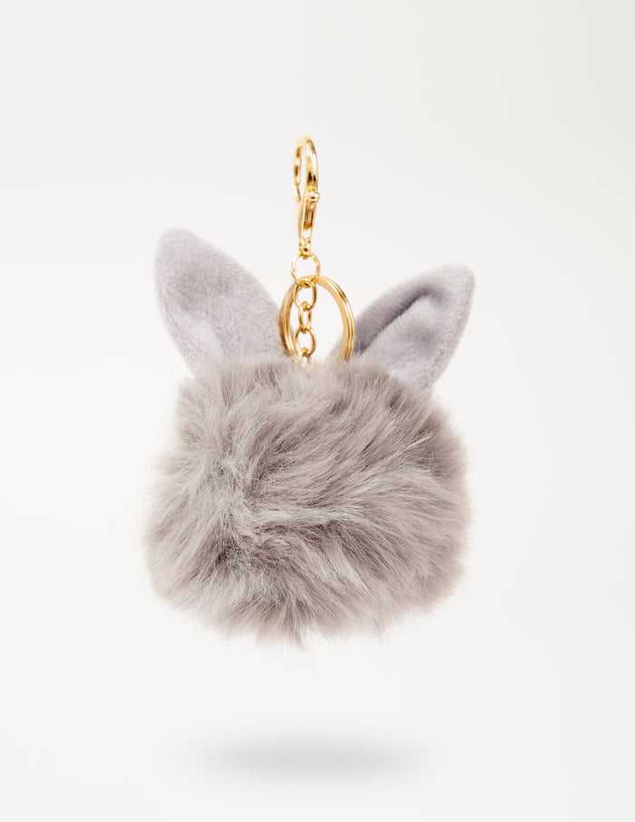 Grey Bunny-Ear Fur Ball - nobby