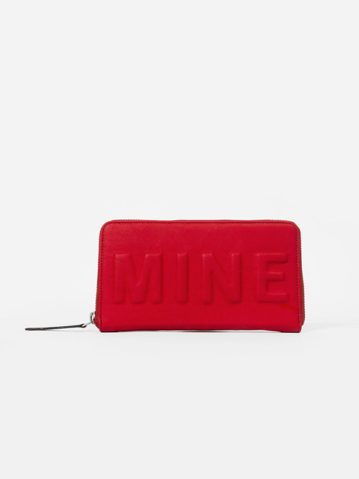 Red Wallet with 'Mine' Slogan - nobby