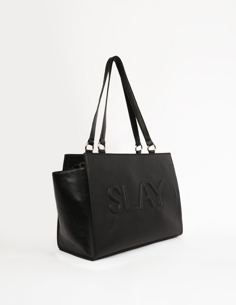 Large Bag With Slogan Patchwork - Slay (Base+Skin) - nobby