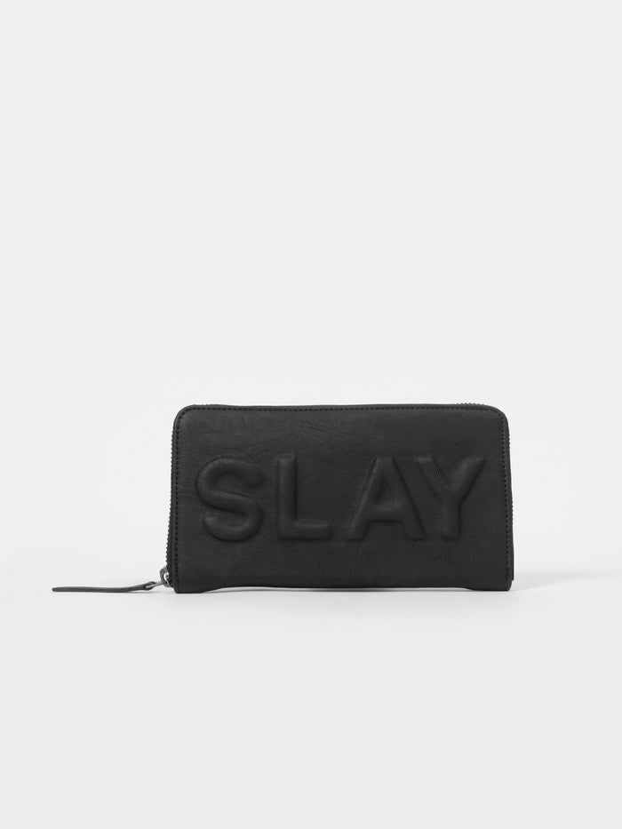 Black Wallet with 'Slay' Slogan - nobby