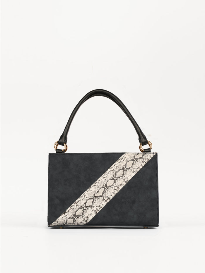 Medium Bag With Snake-Skin Pattern (Base+Skin) - nobby