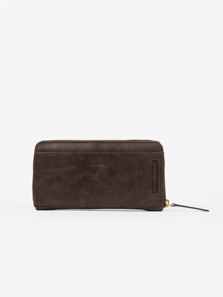 Brown Wallet with Front Pockets - nobby