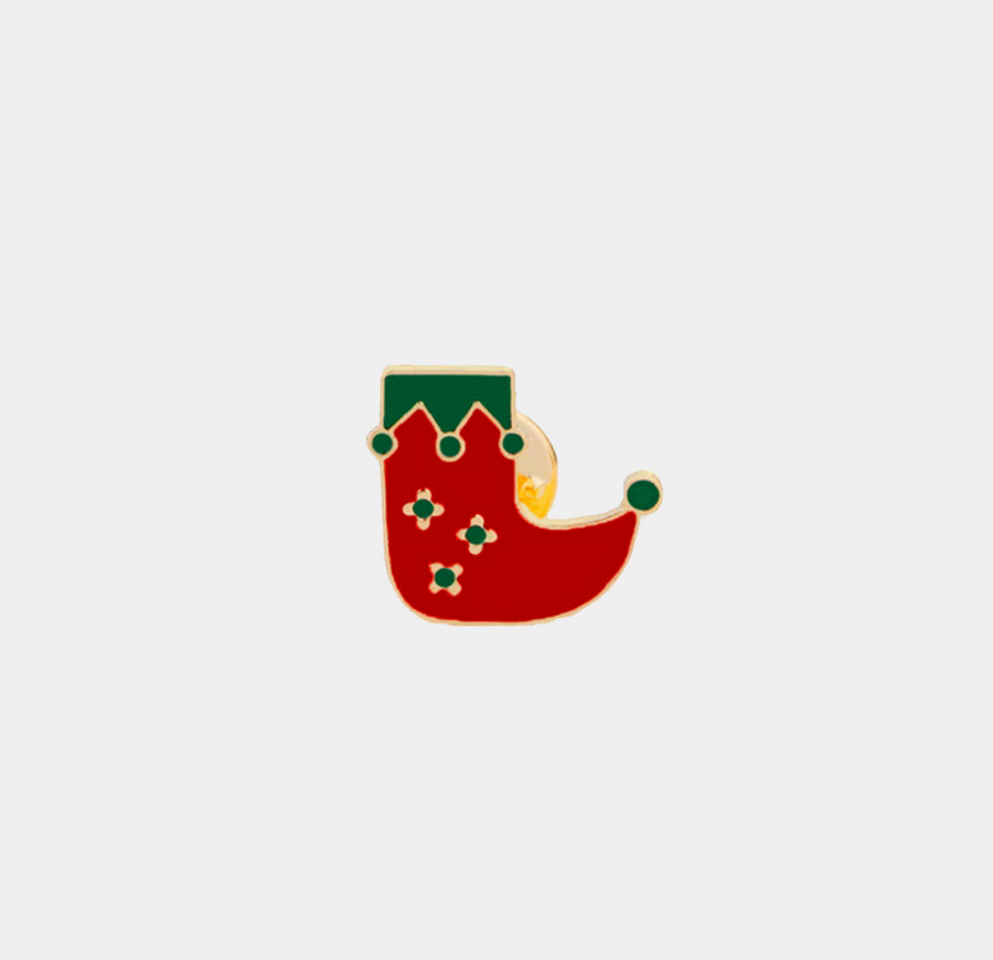 Christmas Boots Enamel Pin - nobby