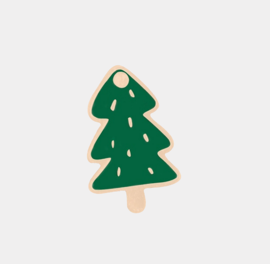 Christmas Tree Enamel Pin - nobby