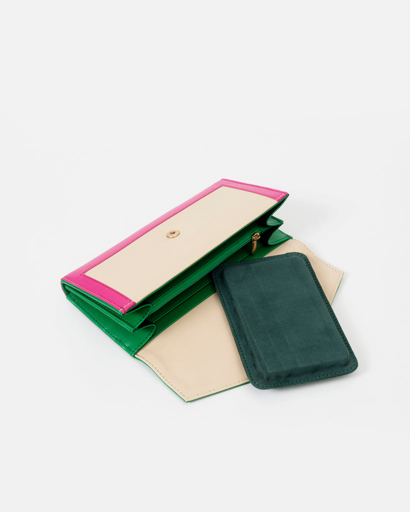 Tricolor Wallet with Flap - nobby