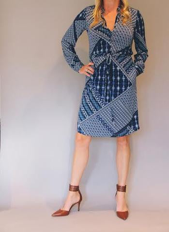 Patch-work Shirt Dress
