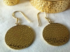Hammered Brass Earrings