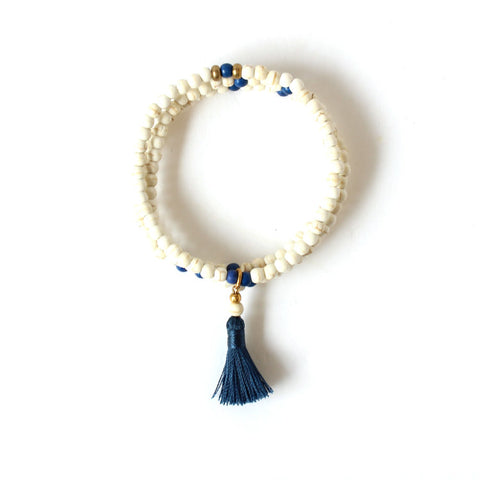 Stacks Bracelet - White & Blue