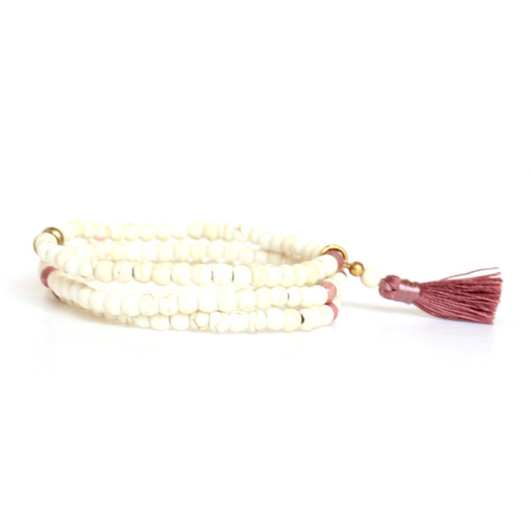 Stacks Bracelet - White & Blush