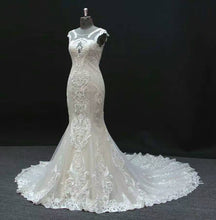 """Elissa"" Couture By Tess Bridal Luxury Lace Mermaid Wedding Dress"