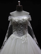 """Victoria"" Couture By Tess Bridal Luxury Beaded Ballgown Wedding Dress Watteau Cathedral Train"