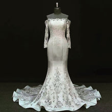 """Anjolique"" Couture By Tess Bridal Lace & Satin Mermaid Wedding Dress"