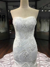 """Lily"" Couture By Tess Bridal Lace Beaded Strapless Mermaid Wedding Dress Chapel Train"
