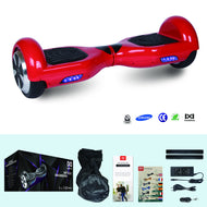 COOL&FUN Hoverboard Batterie Samsung, gyropode 6,5 pouces Rouge