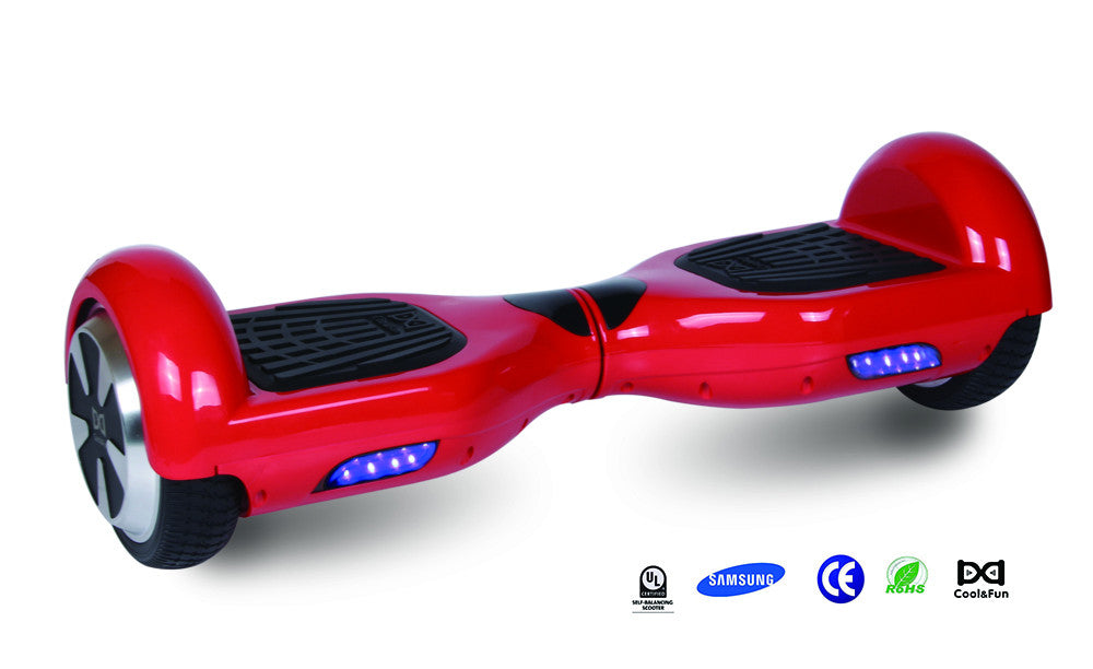 COOL&FUN-Hoverboard-Batterie-Samsung-Bluetooth-gyropode-6.5-pouces-Rouge.