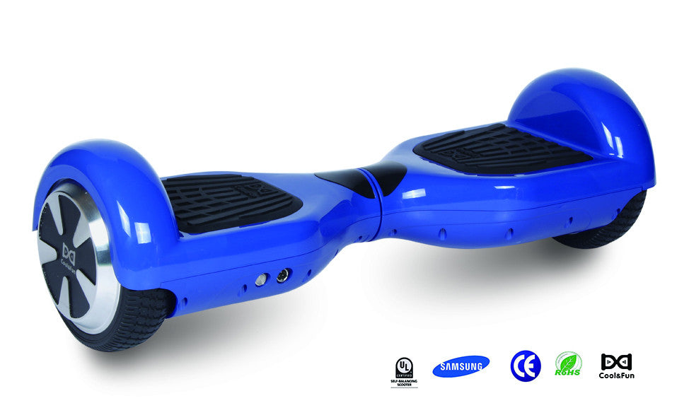 COOL&FUN Hoverboard gyropode batterie Samsung Bluetooth 65 pouces Bleu