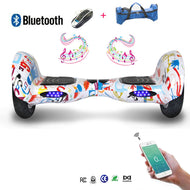 COOL&FUN Hoverboard Bluetooth, gyropode 10 pouces Motif design