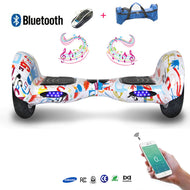 COOL&FUN Hoverboard Batterie Samsung, Bluetooth, gyropode 10 pouces Motif design