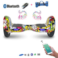 COOL&FUN Hoverboard Batterie Samsung, Bluetooth, gyropode 10 pouces hiphop graffiti design