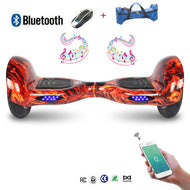 COOL&FUN Hoverboard Bluetooth, gyropode 10 pouces Flame design