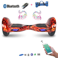 COOL&FUN Hoverboard Batterie Samsung, Bluetooth, gyropode 10 pouces Flame design