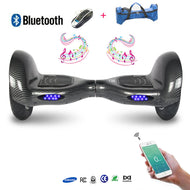 COOL&FUN Hoverboard Batterie Samsung, Bluetooth, gyropode 10 pouces Noir carbone