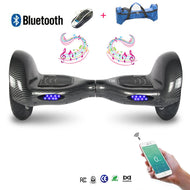 COOL&FUN Hoverboard Bluetooth, gyropode 10 pouces Noir carbone