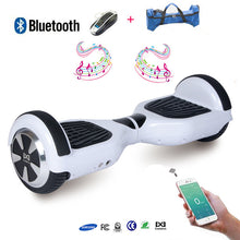 COOL&FUN Hoverboard Batterie  Samsung Enseigne Bleutooth, gyropode 6,5 pouces Blanc