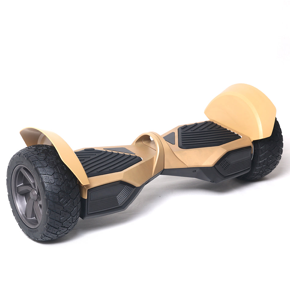 COOL&FUN Hoverboard HUMMER G2 Bluetooth Tout terrain, gyropode 8.5 pouces Doré