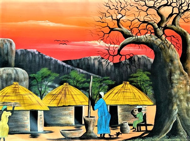 'Village Baobab' - Painting - BAOBAB LOST