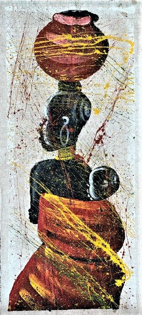 'Mother Malawi' - African Painting - BAOBAB LOST