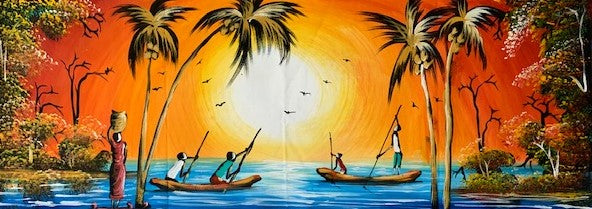 'Lake Malawi' - African Painting - BAOBAB LOST