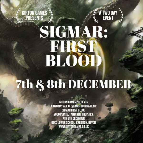 Event - Sigmar: First Blood - December 7th & 8th Age of Sigmar tournament