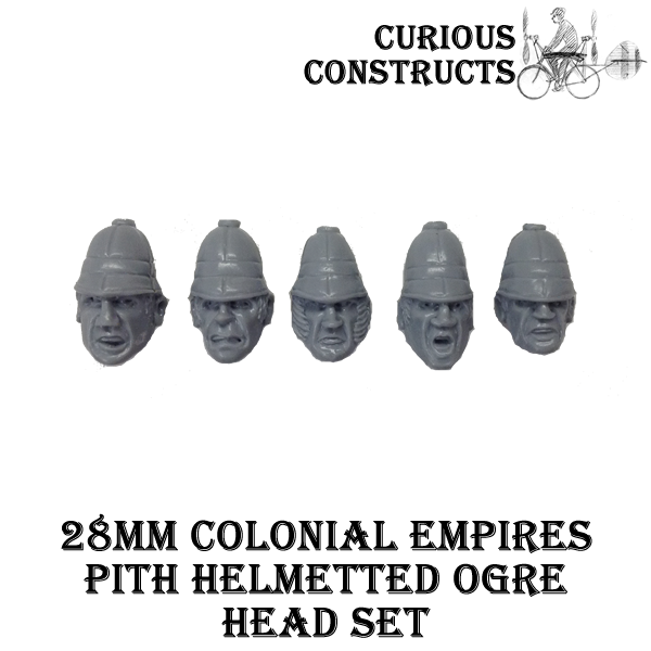 COLONIAL EMPIRES PITH HELMETED OGRE HEAD SET
