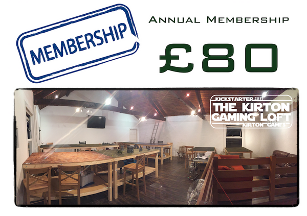 Kirton Games - Gaming Loft Annual Membership