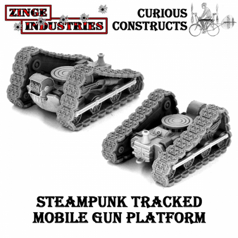 STEAMPUNK TRACKED MOBILE GUN PLATFORM