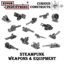 STEAMPUNK WEAPONS & EQUIPMENT BATTERY SET