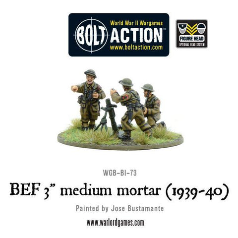 "BOLT ACTION BEF 3"" MEDIUM MORTAR TEAM (1939-40)"