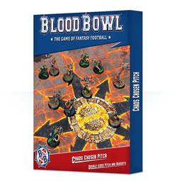 DIRECT - Blood Bowl: Chaos Chosen Double-sided Pitch and Dugouts Set
