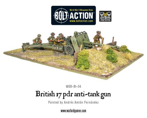 BOLT ACTION BRITISH ARMY 17 POUNDER AT GUN